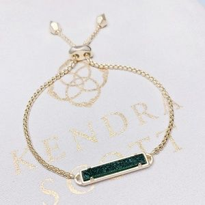 New Kendra Scott Gold Sage Drusy Stan Bracelet